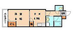 福岡県福岡市東区香椎1丁目の賃貸マンションの間取り