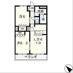 ラ・ベルジュールI[3階]の間取り