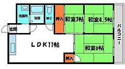 若草第一マンション 5階3LDKの間取り