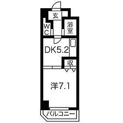 南6条発成ビル[6階]の間取り