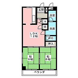 レジデンスイワタ[5階]の間取り