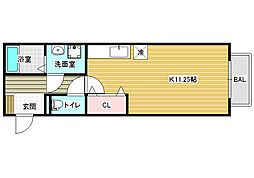 ドリーム葉月 六番館[2階]の間取り