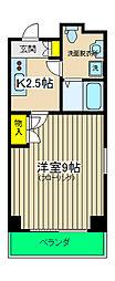 カンパニーレ横浜[901号室]の間取り