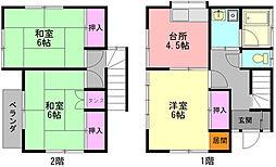 [一戸建] 神奈川県大和市上草柳3丁目 の賃貸【/】の間取り