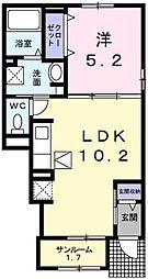 カプリC[1階]の間取り