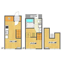 Calico-House 2[214号室]の間取り