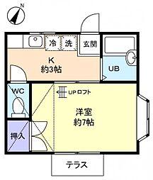 トーコーハイツ志津[1階]の間取り