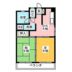 シラコビル[3階]の間取り