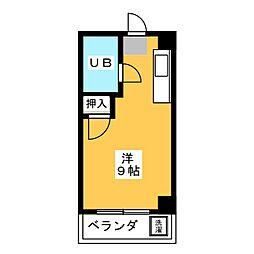 マンション愛晃[3階]の間取り