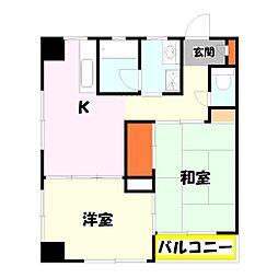 サンビューハイム[2階]の間取り