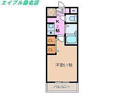 三重県いなべ市北勢町麻生田の賃貸マンションの間取り