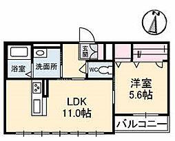 仮称)シャーメゾン高取北[2階]の間取り