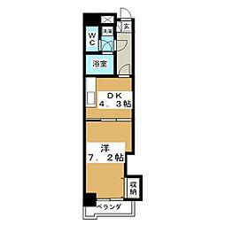 カヤバプラザE館[6階]の間取り