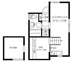 東京都渋谷区神宮前2丁目の賃貸アパートの間取り