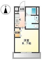 長野県上田市上田原の賃貸アパートの間取り