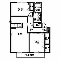 HANA壱番館[2階]の間取り