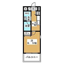 ラ・ヴィ・アン・ローズ[7階]の間取り