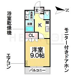 愛知県名古屋市南区泉楽通1丁目の賃貸アパートの間取り