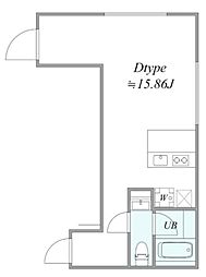 trias226 3階ワンルームの間取り
