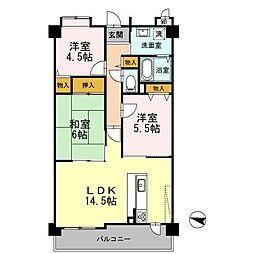 フローラ東館[2階]の間取り
