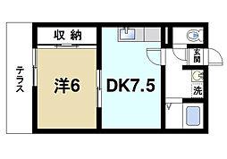 奥村マンション[1階]の間取り
