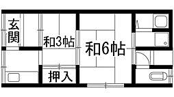 [テラスハウス] 兵庫県川西市小花2丁目 の賃貸【兵庫県 / 川西市】の間取り