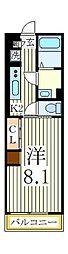 リブリ・スペースS[3階]の間取り