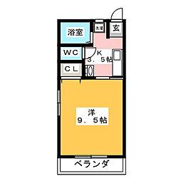 コベントガーデン[1階]の間取り