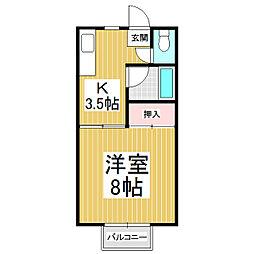 シャトーリオン上新田[2階]の間取り