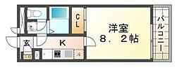 クレイノコンフォール杭瀬北新町[2階]の間取り
