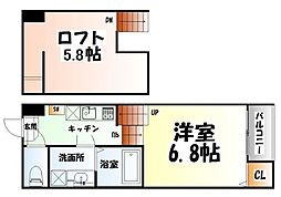 JR仙山線 北山駅 徒歩2分の賃貸アパート 1階1Kの間取り