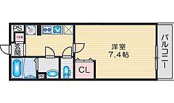 JR東海道・山陽本線 茨木駅 徒歩11分の賃貸マンション 3階1Kの間取り