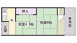 Osaka Metro長堀鶴見緑地線 今福鶴見駅 徒歩7分の賃貸アパート 2階2Kの間取り