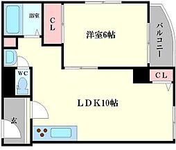 メゾンドゥ・レイナIII 3階1LDKの間取り