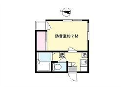 メゾンタクト[2階]の間取り