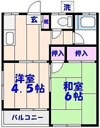 第1網茂荘[202号室]の間取り