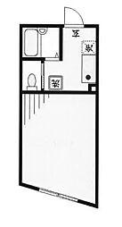 コートドール二俣川 202号室[2階]の間取り