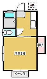 神奈川県相模原市南区南台6丁目の賃貸アパートの間取り