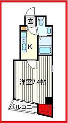 東京都荒川区東日暮里5丁目の賃貸マンションの間取り