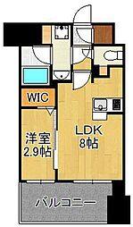 グランフォーレ小倉シティタワー 4階1LDKの間取り