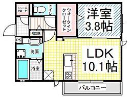仮)D-room東之門町(インターネット費用込)[201号室]の間取り
