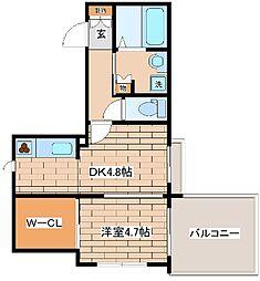 阪急神戸本線 王子公園駅 徒歩8分の賃貸マンション 3階1DKの間取り
