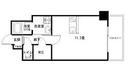 Ko Olina Ukinojo 4階ワンルームの間取り