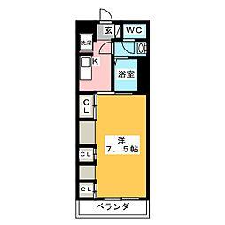 リブリ・イーストサイド湘南 1階1Kの間取り