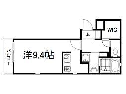 京阪本線 龍谷大前深草駅 徒歩8分の賃貸マンション 1階ワンルームの間取り