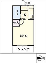 ハイツミドリ[2階]の間取り