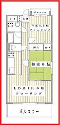 東京都荒川区町屋2丁目の賃貸マンションの間取り