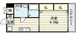 大阪府大阪市東成区神路4丁目の賃貸マンションの間取り