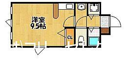 福岡県福岡市博多区那珂6の賃貸マンションの間取り