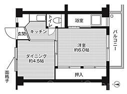ビレッジハウス南野田1号棟[4階]の間取り